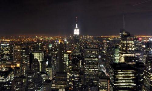 Zdjecie USA / NY / Nowy Jork / Manhattan noc�