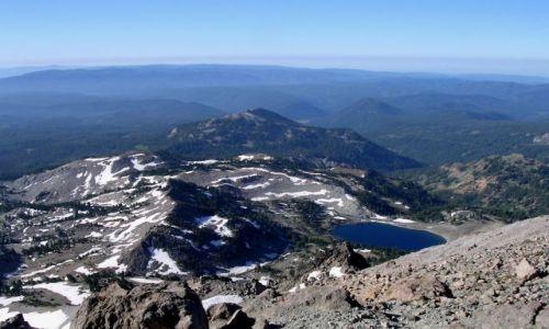 Zdjecie USA / brak / pln Kalifornia / widok z Lassen Peak