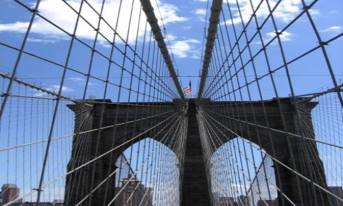 Zdjecie USA / NY / na moście / M jak Brooklyn