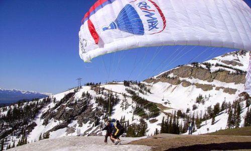 Zdjecie USA / Wyoming / Grand Teton Nat. Park / próba startu