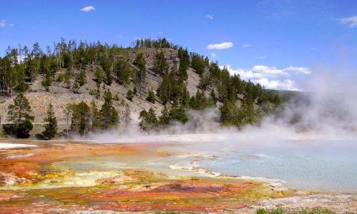 Zdjęcie USA / Wyoming / Yellowstone / gorące i pachnace siarką Yellowstone