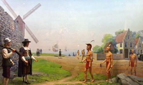 USA / NY / NYC / sprzedaż wyspy Manhattan za 60 guldenów (1610)