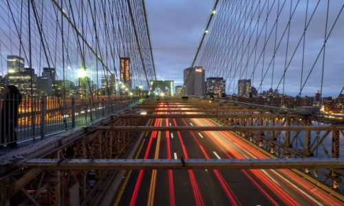USA / NYC / NY / Brooklyn Bridge