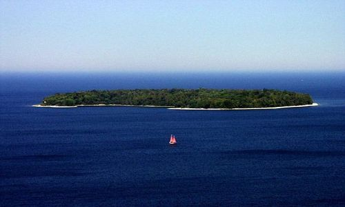 Zdjecie USA / green bay na jeziorze michigan / środkowo zachodnia cześć cypla Door County / paddlehorse island