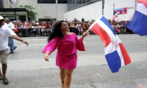 Zdjecie USA / manchattan / 5th ave / dominican parade