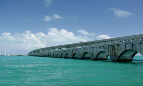Zdjecie USA / brak / Floryda / archipelag Florida Keys / most, a wlasciwie dwa