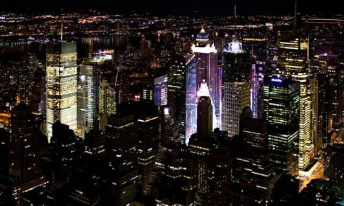 Zdjęcie USA / NY / NYC / Manhattan nocą