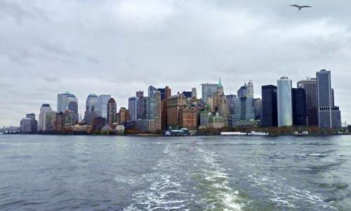 USA / NY / NYC / NYC panoramka z Liberty Island