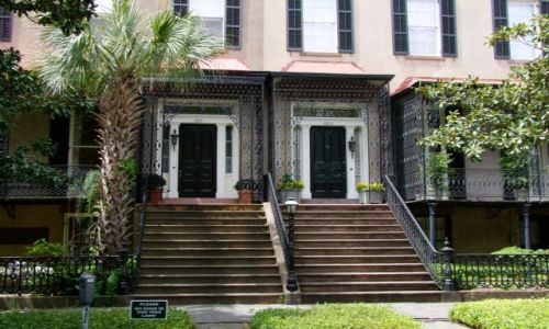Zdjęcie USA / - / Georgia / Savannah / drzwi