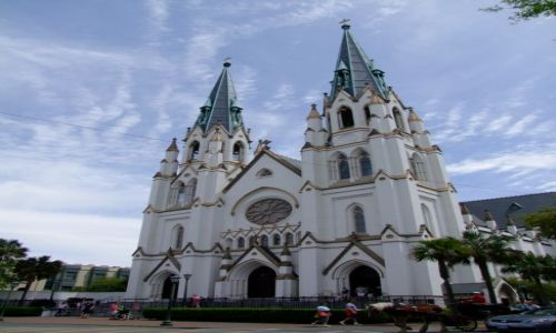 Zdjęcie USA / - / Georgia / Savannah / katedra sw. Jana Chrzciciela