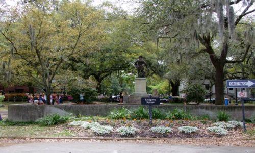 Zdjęcie USA / - / Georgia / Savannah / znany skwerek :)