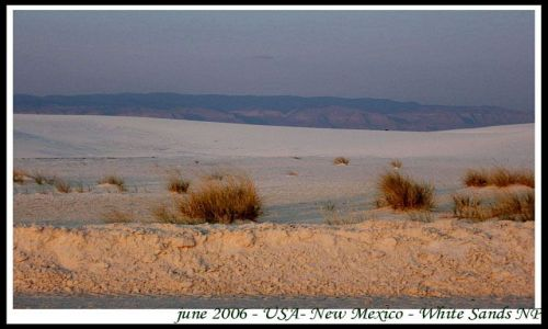 Zdjecie USA / USA / Nowy Meksyk / Biale Piaski - park narodowy w Nowym Meksyku (5)