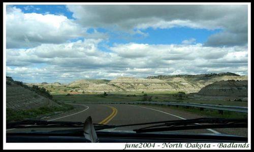Zdjecie USA / Dakota Polnocna / wjazd do parku / Badlands - Park Narodowy - North Dakota