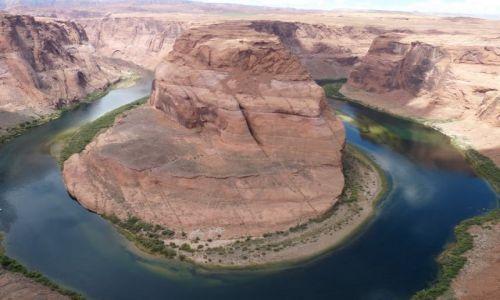 USA / Arizona / rzeka Kolorado / Horseshoe Bend - punkt widokowy blisko Page