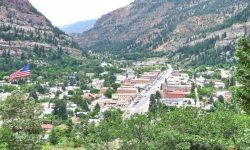 USA / Colorado / Ouray / Miasteczko Ouray w Kolorado