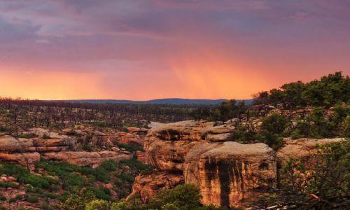 Zdjecie USA / Colorado / Mesa Verde NP / Po burzy na czerwono