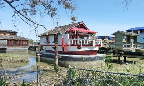 Zdjęcie USA / California / San Francisco / Domek łódka w kształcie .... łódki