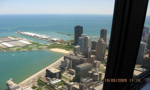 Zdjęcie USA / Illinois / Chicago / Chicago i jez.Michigan z John Hancock