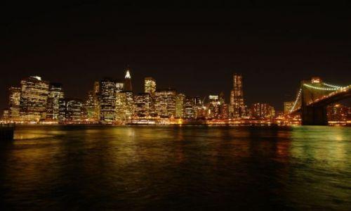 Zdjecie USA / - / Nowy Jork / Manhatan noca