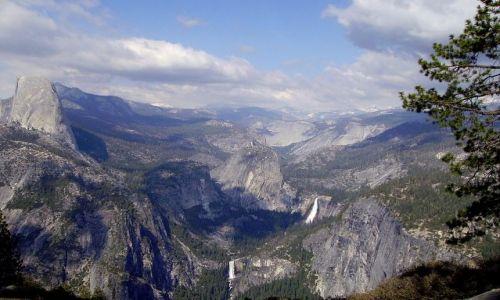 Zdjęcie USA / Kalifornia / Yosemite National Park / panorama z Glacier Point- Park Yosemite