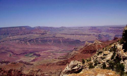 Zdjecie USA / Arizona / południowa krawędż Grand Canyon / rzeka Colorado na dnie kanionu