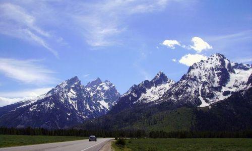 Zdjecie USA / Wyoming / Grand Teton Nat. Park / zwiedzaj�c Gran