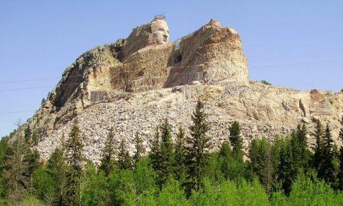 Zdjecie USA / Północna Dakota / okolice pomnika / niedokończony pomnik wodza Crazy Horse