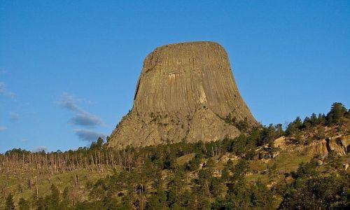 Zdjecie USA / Wyoming / Devils Tower National Monument / Poranne, bliskie spotkania III stopnia