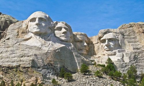 Zdjecie USA / South Dakota / Mount Rushmore National Memorial / Główki prezydentów