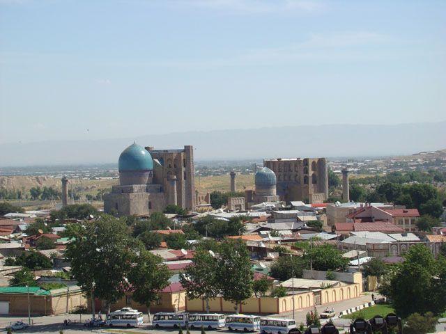 Zdjęcia: Registan, Samarkanda, Widok z minaretu, UZBEKISTAN