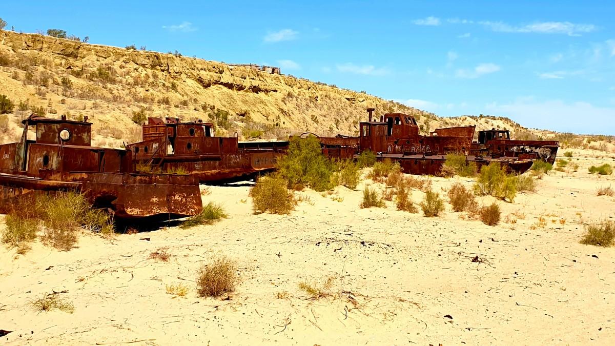 Zdjęcia: Jezioro Aralskie, Muynak, Tu było jezioro, UZBEKISTAN