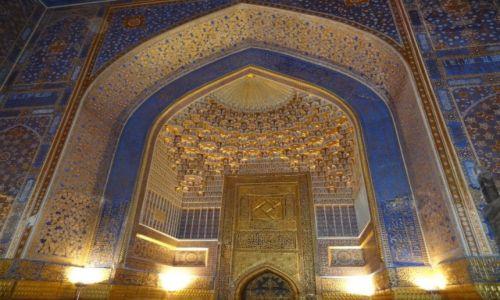 Zdjęcie UZBEKISTAN / - / Samarkanda / Z cyklu: Bajeczne meczety - wnętrze