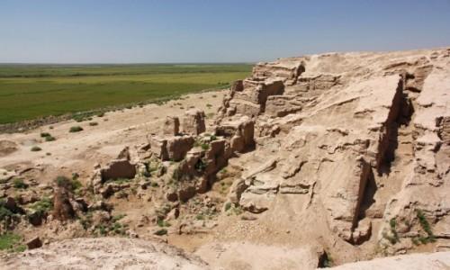 Zdjecie UZBEKISTAN / Surchandaria / Termez / Ruiny Kampyr-Tepe przy granicy z Afganistanem. Aleksandria nad Oksusem?