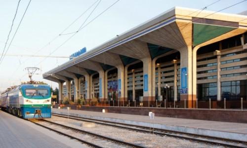 Zdjecie UZBEKISTAN / Samarkanda / Samarkanda / Dworzec kolejowy w Samarkandzie