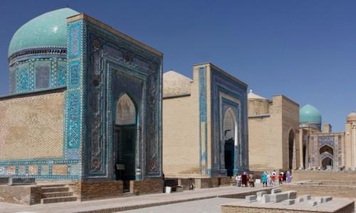 Zdjęcie UZBEKISTAN / Samarkanda / Samarkanda / Zespół mauzoleów Szach-i Zinda