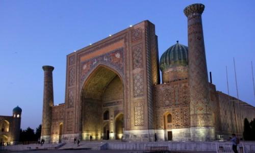 Zdjecie UZBEKISTAN / Samarkanda / Samarkanda / Medresa Szir-Dar