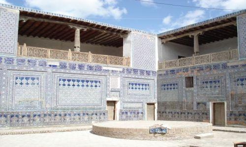 Zdjęcie UZBEKISTAN / Chorezm / Chiwa / Wnętrze pałacu