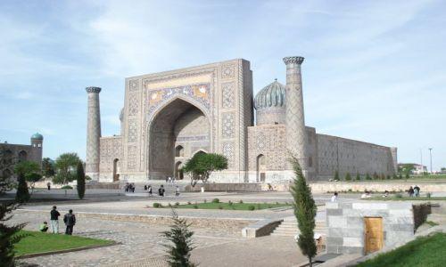 Zdjecie UZBEKISTAN / Wilojat Samarkandy / Samarkanda - Registan / Medresa Szir Dor