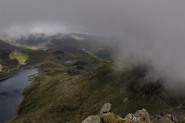 Zdj�cia: Park Narodowy Snowdonia, w chmurach, WALIA