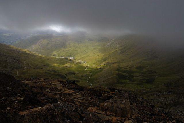 Zdjęcia: Park Narodowy Snowdonia, w chmurkach, WALIA