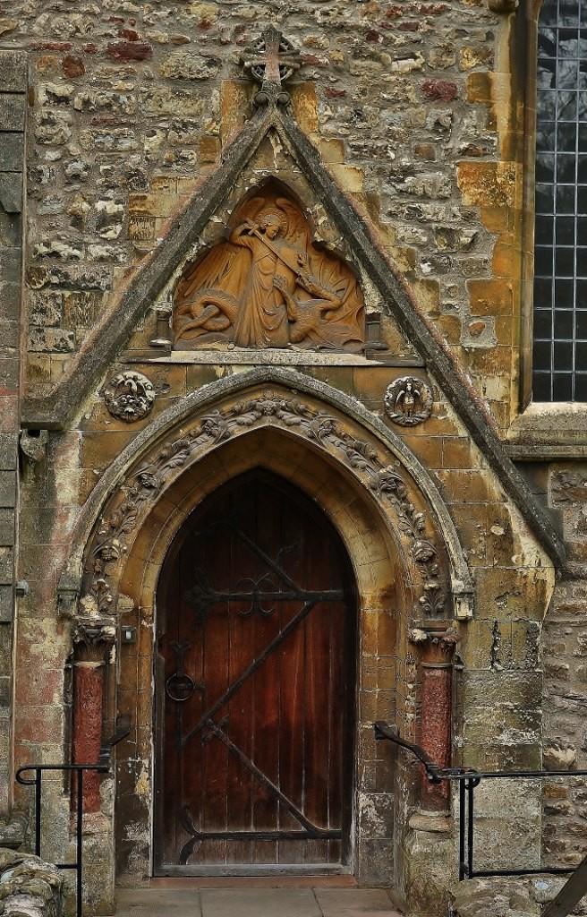 Zdjęcia: Cardiff, Południowa Walia, Cardiff, portal katedry, WALIA