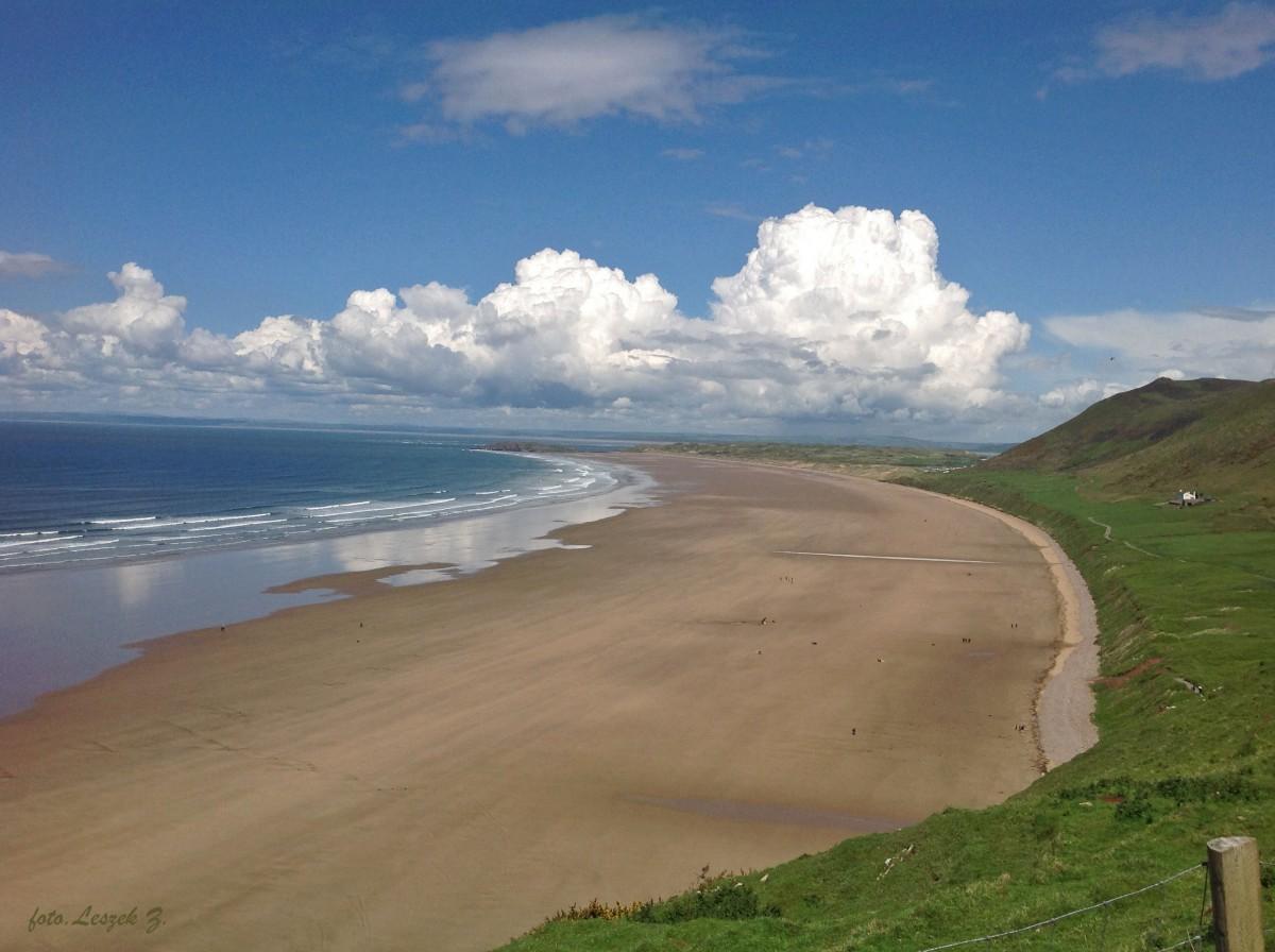Zdjęcia: Plaża w Swansea., Swansea., Mumbles - Najpiękniejsza plaża Walii., WALIA
