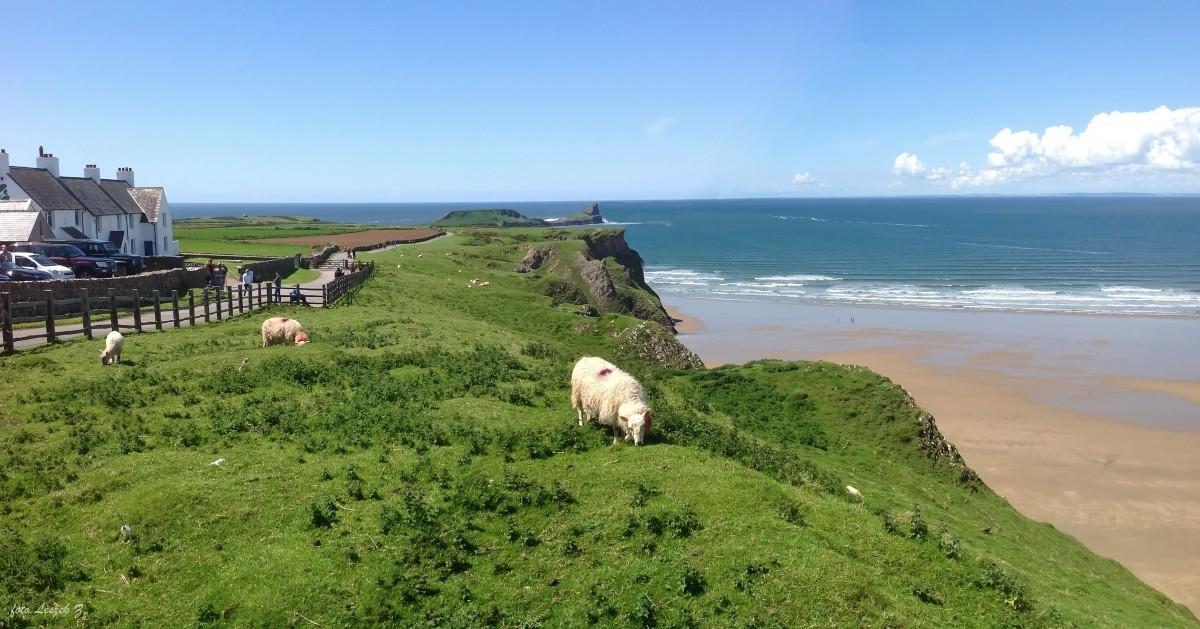 Zdjęcia: Swansea., Półwysep Gower., Królowa brytyjskich plaż - Rhossili., WALIA