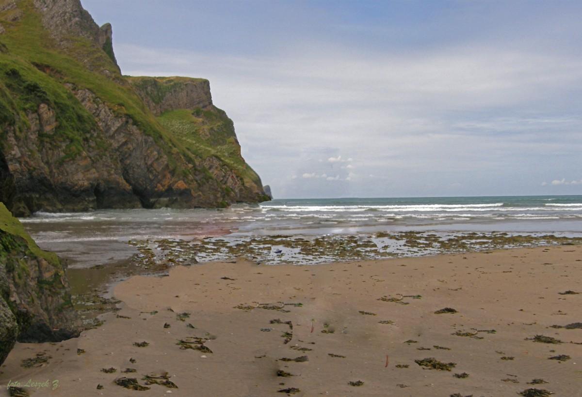 Zdjęcia: Rhossili Bay., Swansea., Na plaży Rhossili., WALIA