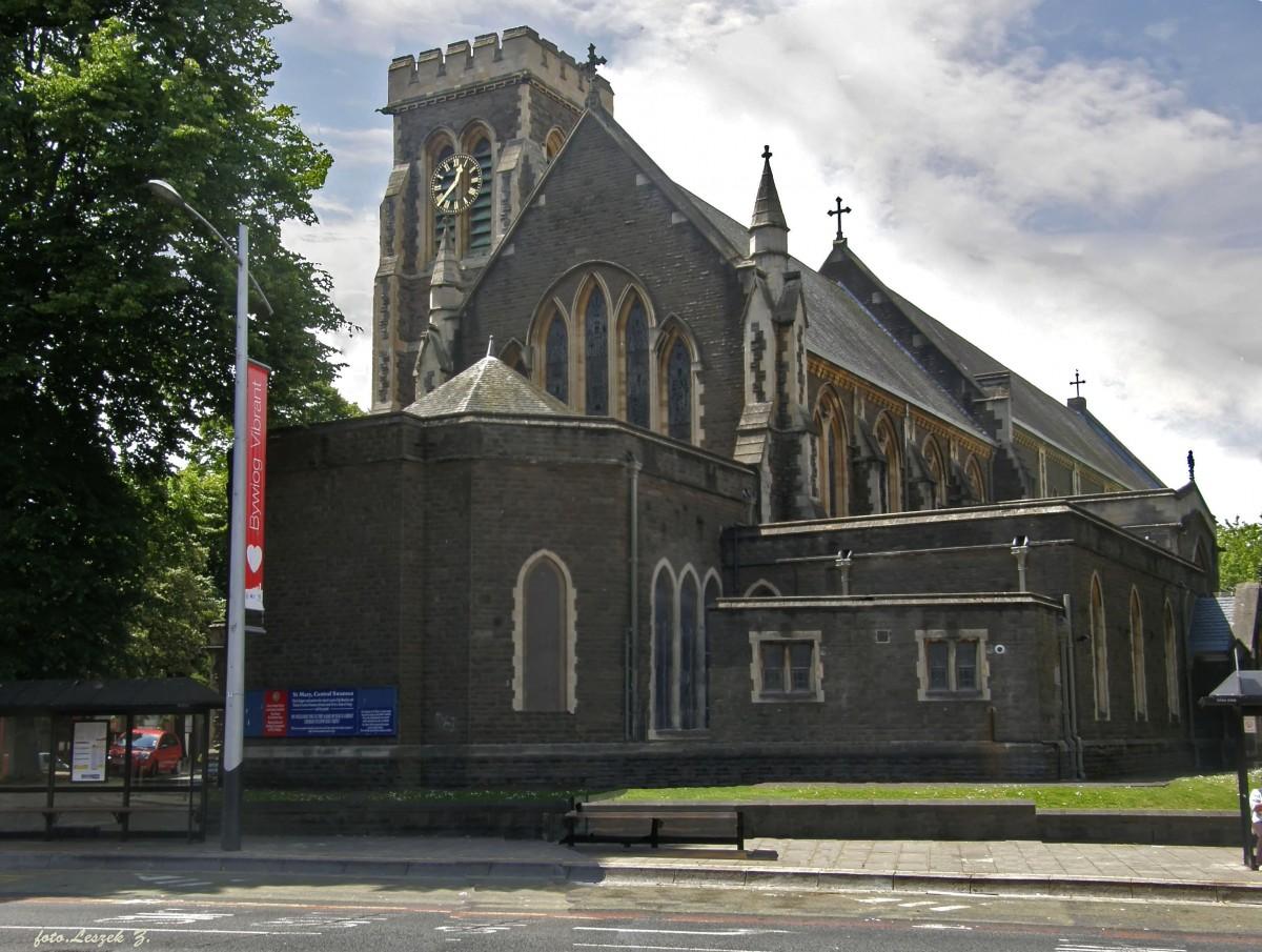 Zdjęcia: Swansea., Swansea., Swansea - katedra św. Marii., WALIA