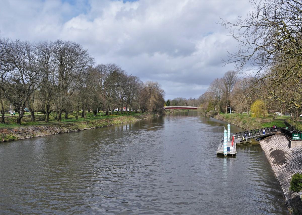 Zdjęcia: Cardiff, Stolica, Cardiff, Bute Park, rzeka Taff, WALIA