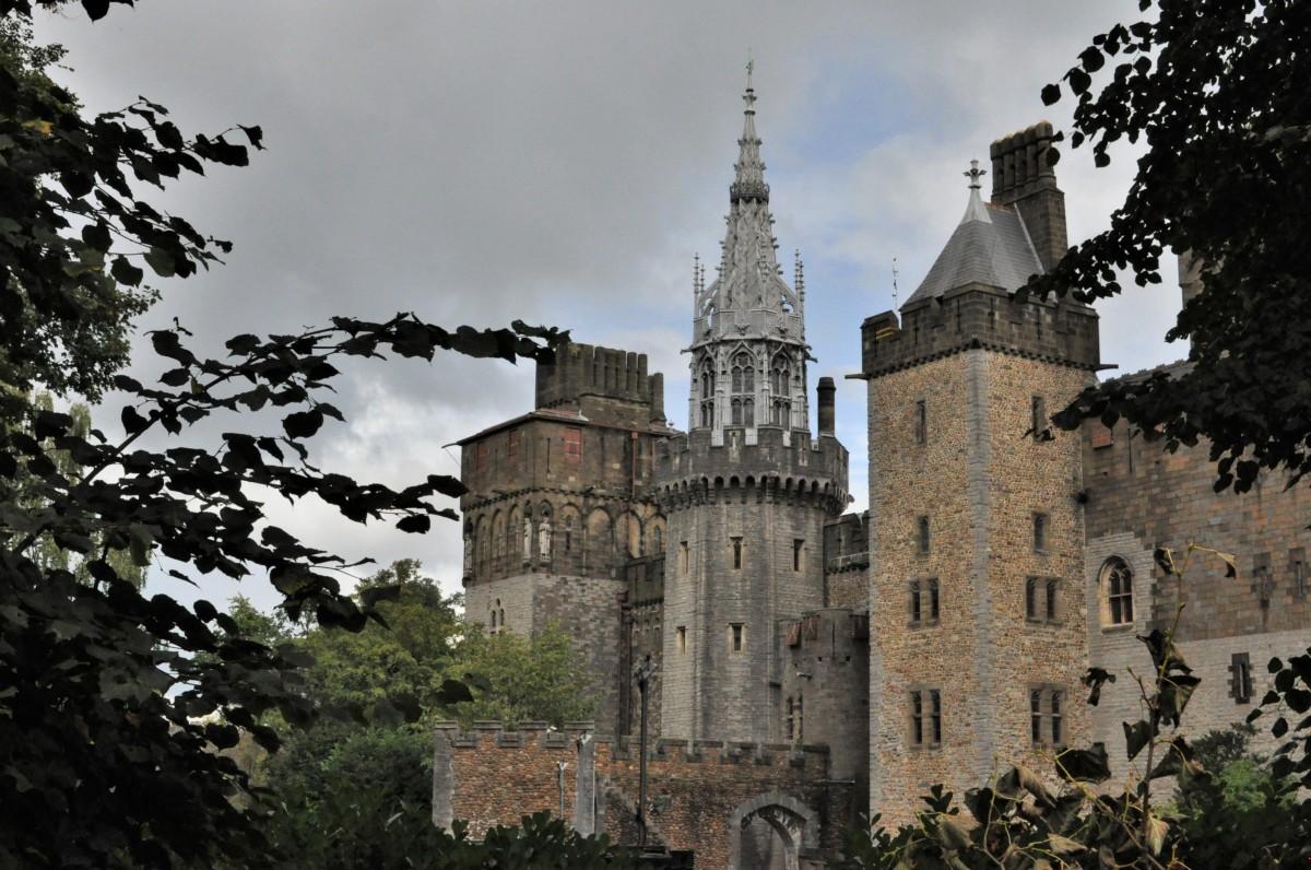 Zdjęcia: Cardiff, Stolica, Cardiff, zamek od strony ogrodu, WALIA