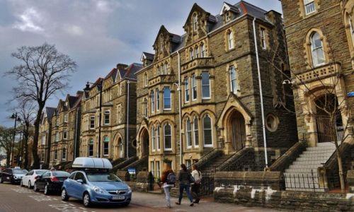 Zdjęcie WALIA / Południe / Cardiff / Cardiff, typowa zabudowa