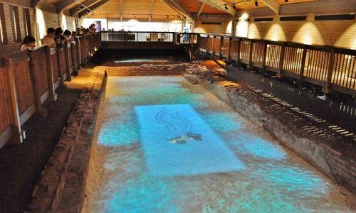 Zdjęcie WALIA / Łaźnia / Starożytności / Caerleon, ruiny koszar rzymskich