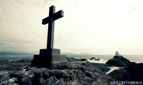 Zdjecie WALIA / Anglesey / Wyspa Llanddwyn Ynys / Symbol chrzesci